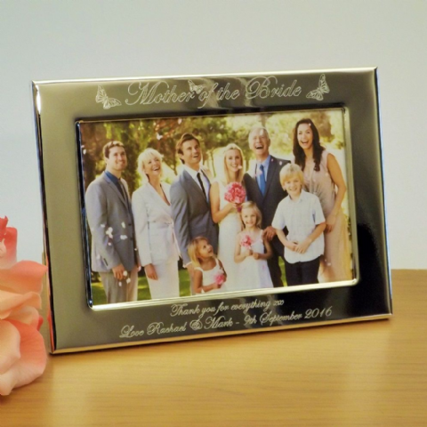 Mother of the Bride Butterfly Photo Frame Personalised Wedding Gift